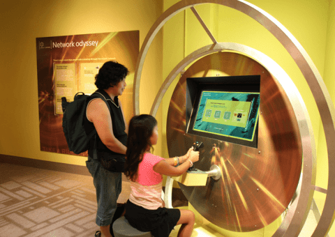 Liberty Science Center interactive learning exhibit